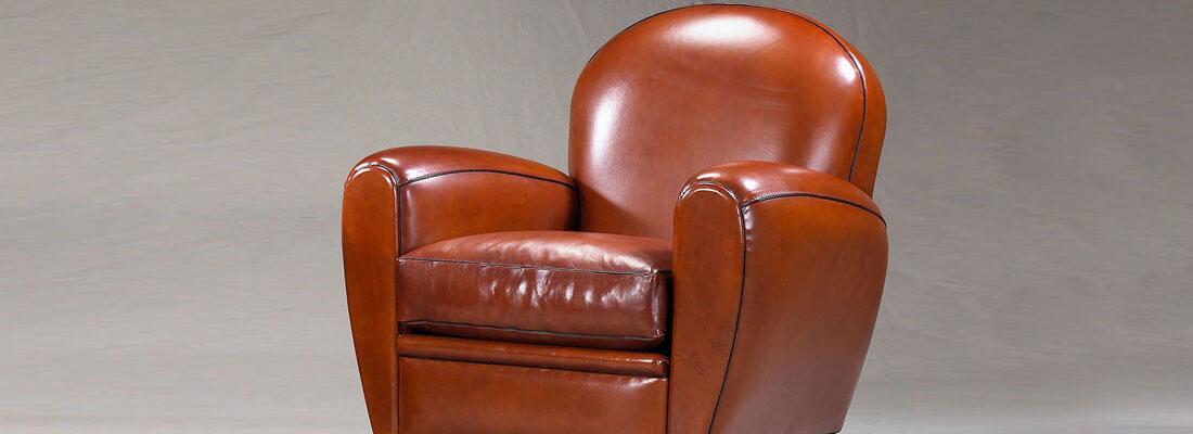fauteuil club en cuir.